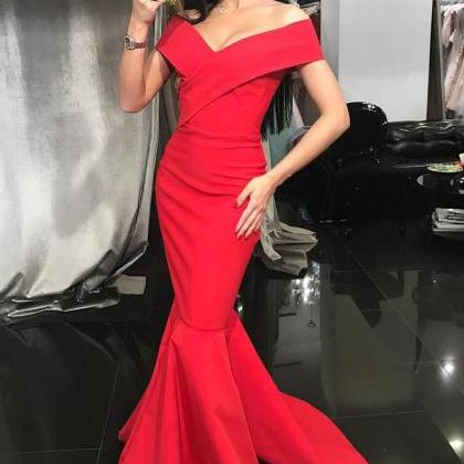 Mermaid Formal Evening Gown Red Of..