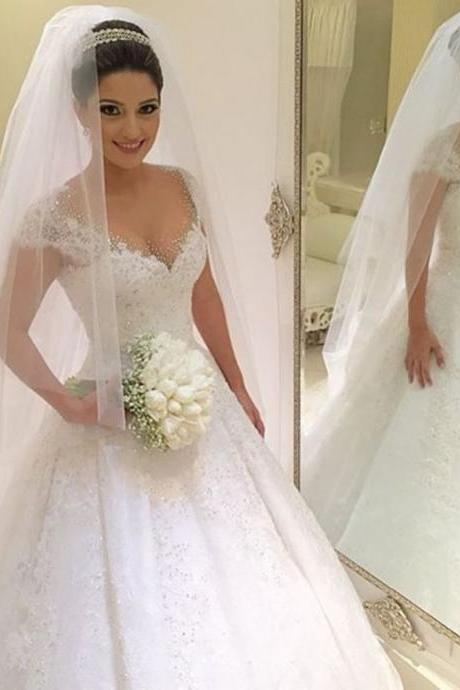 Wedding Dresses,New White/Ivory Wedding Dress Bridal Gown Custom Size 6 8 10 12 14 16 +++ 2019
