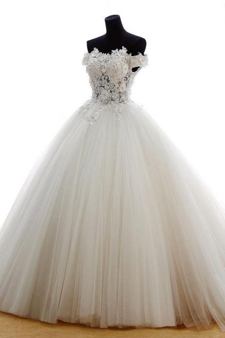 Wedding Dress,Wedding Dresses,Off Shoulder Wedding Dress,Lace Ball Gown Wedding Dresses,Sweetheart Wedding Dresses